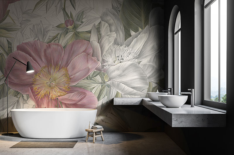 Wallpaper For Your Bathroom Tile Space